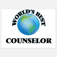 World's Best Counselor Invitations
