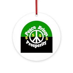 Peace Brings Prosperity (tree ornament)