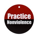 Practice Nonviolence (holiday ornament)