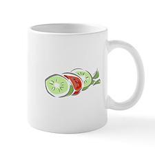 Cucumber & Tomatoe Salad Mugs
