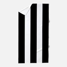 Black And White Vertical Stripes Beach Towel