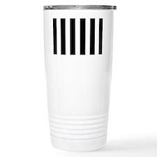 Black And White Vertical Stripes Travel Mug