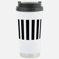 Black And White Vertical Stripes Travel Mug