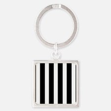Black And White Vertical Stripes Keychains