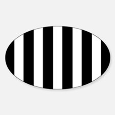 Black And White Vertical Stripes Decal
