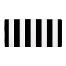 Black And White Vertical Stripes Beach Towel