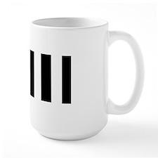 Black And White Vertical Stripes Mugs