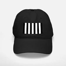 Black And White Vertical Stripes Baseball Hat