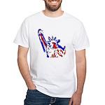 Statue of Liberty Patriotic White T-Shirt