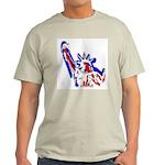 Statue of Liberty Patriotic Ash Grey T-Shirt