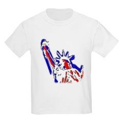 Statue of Liberty Patriotic Kids T-Shirt