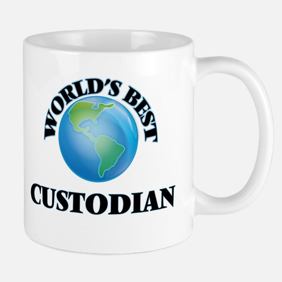 World's Best Custodian Mugs