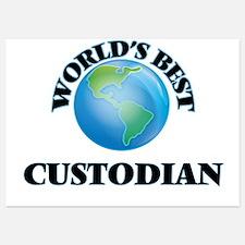 World's Best Custodian Invitations