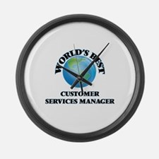 World's Best Customer Services Ma Large Wall Clock