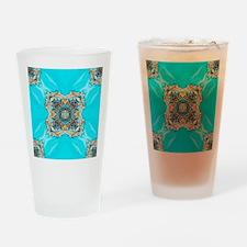 colourful bold bohemian pattern  Drinking Glass