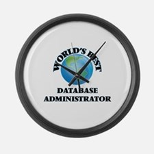 World's Best Database Administrat Large Wall Clock