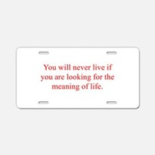 You will never live if you are looking for the mea