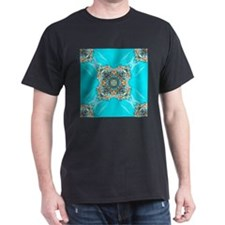 colourful bold turquoise bohemian pattern T-Shirt