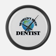 World's Best Dentist Large Wall Clock