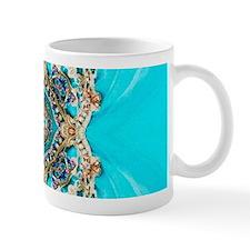 colourful bold turquoise bohemian pattern Mugs