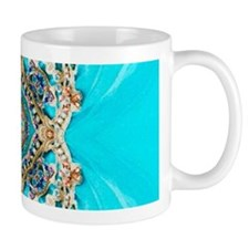 colourful bold turquoise bohemian pattern Mugs