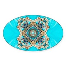 colourful bold turquoise bohemian pattern Decal