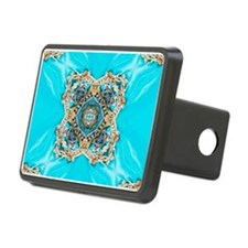 colourful bold turquoise b Hitch Cover
