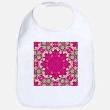 abstract fuschia bohemian shells pattern Bib