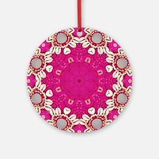 abstract fuschia bohemian shells Ornament (Round)