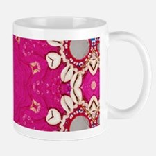 abstract fuschia bohemian shells pattern Mugs