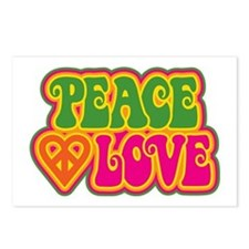 Peace & Love Postcards (Package of 8)