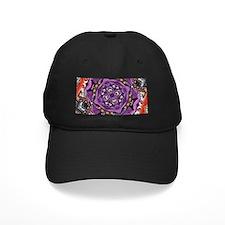 abstract purple orange jewelry pattern Baseball Hat