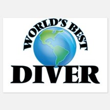World's Best Diver Invitations