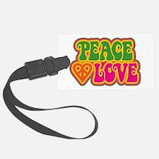 Peace & Love Luggage Tag