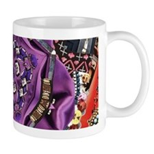 abstract purple orange jewelry pattern Mugs