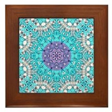 colourful bold bohemian pattern Framed Tile
