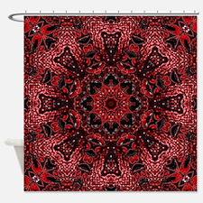 colourful bold bohemian pattern Shower Curtain