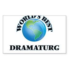 World's Best Dramaturg Decal