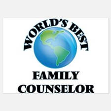World's Best Family Counselor Invitations