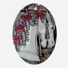 Pretty carousel horse Ornament (Oval)