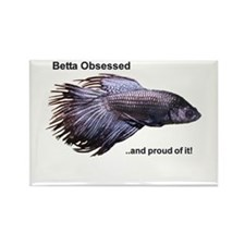 Betta Obsessed Rectangle Magnet