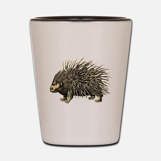 Porcupine Shot Glass