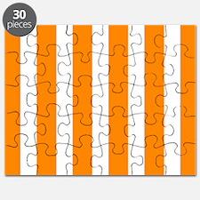 Orange And White Vertical Stripes Puzzle