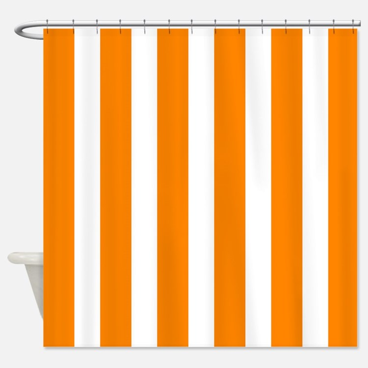 Orange And White Vertical Stripes Shower CurtainChevron Orange Shower Curtains   Chevron Orange Fabric Shower  . Orange Shower Curtain Liner. Home Design Ideas