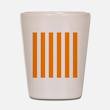 Orange And White Vertical Stripes Shot Glass