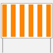 Orange And White Vertical Stripes Yard Sign