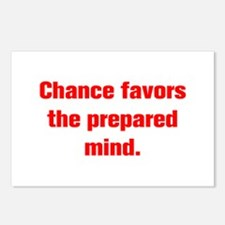 Chance favors the prepared mind Postcards (Package