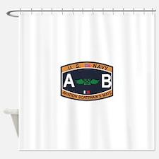 Aviation Boatswains Mate US Navy Ra Shower Curtain