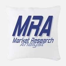 Cool Market Research Analyst Woven Throw Pillow