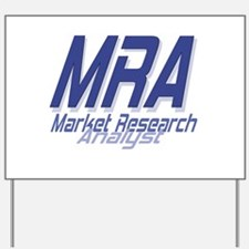 Cool Market Research Analyst Yard Sign